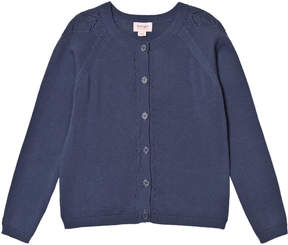 Mini A Ture Noa Noa Miniature Vintage Indigo Long Sleeve Cardigan
