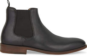Aldo Mens Black Croaven Leather Chelsea Boots