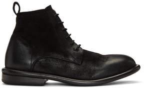 Marsèll Black Cetriolo Bombe Lace-Up Boots