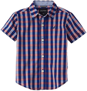 Nautica Boys' Short Sleeve Woven Shirt