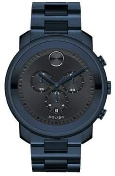 Movado Bold Collection Ink IP Stainless Steel Chronograph Bracelet Watch