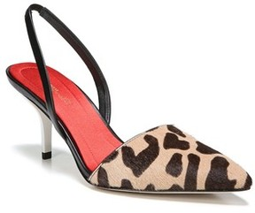 Diane von Furstenberg Women's Mortelle Genuine Calf Hair D'Orsay Pump