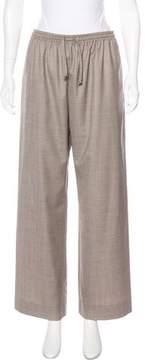 eskandar Wool & Silk High-Rise Pants