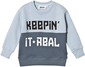 Molo Blue Mungo Sweatshirt