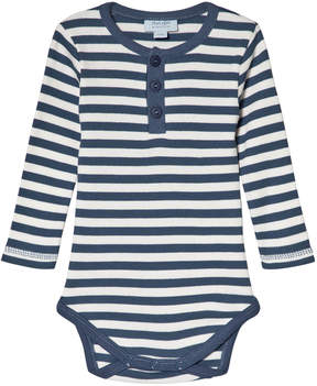 Mini A Ture Noa Noa Miniature Vintage Indigo and White Stripe Long Sleeve Baby Body