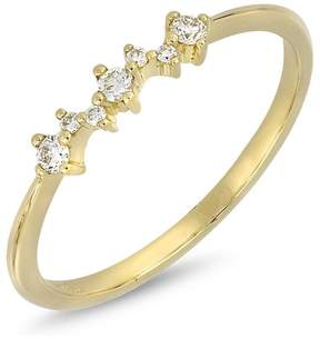 Bony Levy 18K Yellow Gold Prong Set Faceted Round Diamond Stackable Ring - 0.10 ctw