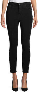 Band of Gypsies Studded Suede Skinny Jeans