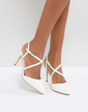 New Look Cross Front Pointed Heeled Shoes