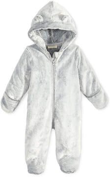 First Impressions Faux-Fur Bear Footed Snowsuit, Baby Boys (0-24 months), Created for Macy's