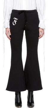 Facetasm Black Flare Lounge Pants