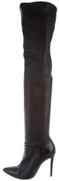 Alice + Olivia Leather Over-The-Knee Boots