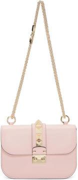 Valentino Pink Garavani Small Rockstud Lock Bag
