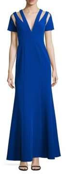 BCBGMAXAZRIA Cutout Evening Gown