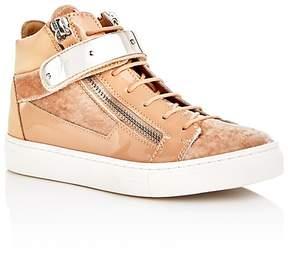 Giuseppe Zanotti Girls' Veronica Velvet High Top Sneakers - Toddler, Little Kid