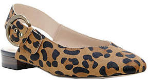 Sole Society Leather Slingback Flats - Topanga
