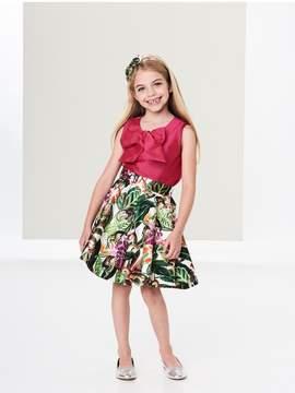 Oscar de la Renta Kids Kids | Mikado Jungle Monkey Skirt | 6 years