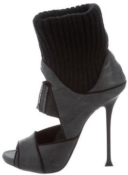 Donna Karan Nubuck Cutout Sandals