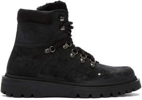 Moncler Black Nubuck Egide Boots
