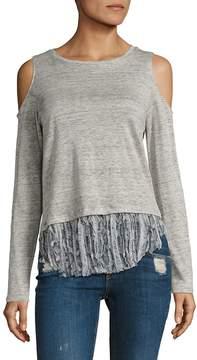 Generation Love Women's Talia Cold-Shoulder Long-Sleeve Top
