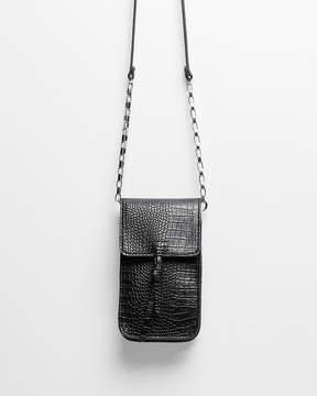 Express Tech Tassel Flap Crossbody Bag