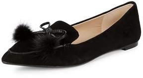 Karl Lagerfeld Paris Women's Metallic Leather Loafers
