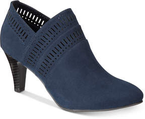 Karen Scott Marius Perforated Dress Booties, Created for Macy's Women's Shoes
