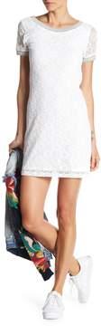 Desigual Short Sleeve Crochet Knit Dress