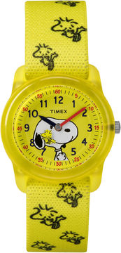 Timex Time Machines Peanuts Peanuts Unisex Yellow Strap Watch-Tw2r41500xy