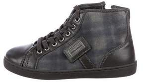 Dolce & Gabbana Boys' Suede High-Top Sneakers