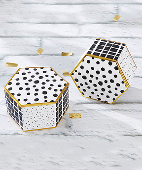 Modern Classic Hexagon Favor Box - Set of 12