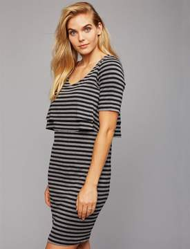 A Pea in the Pod Web Only Pull Down Slim Fit Nursing Dress