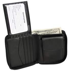 Royce Leather Unisex Zip Around Wallet 120-6