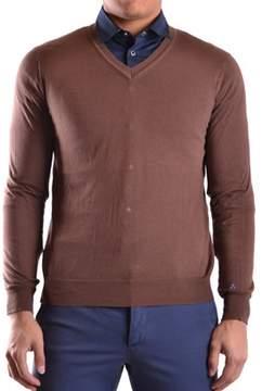 Peuterey Men's Brown Cotton Sweater.
