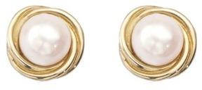Aspinal of London Twist Pearl Stud Earrings