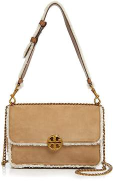 Tory Burch Chelsea Faux-Shearling Shoulder Bag - NATURAL/GOLD - STYLE