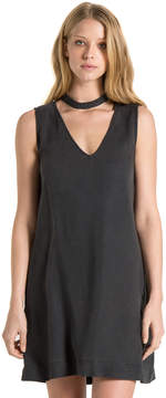 Bella Dahl Choker Neck Dress-Black-XS