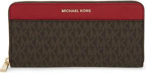 MICHAEL Michael Kors Mercer continental wallet - BRN/BRT RED - STYLE