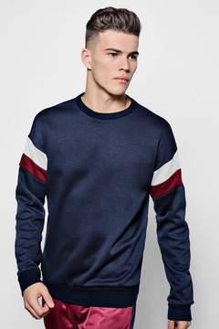boohoo Jersey Panelled Sweater