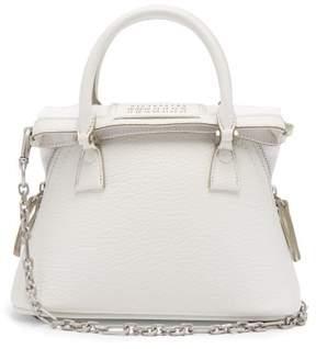 Maison Margiela 5ac Mini Leather Cross Body Bag - Womens - White