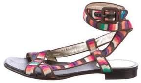 Missoni Knit Ankle Strap Sandals