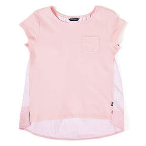 Nautica Toddler Girls' High-Low Laced-Up Tee (2T-4T)