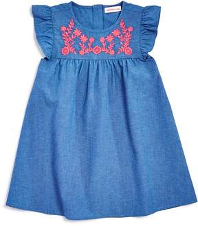 Design History Girls' Embroidered Chambray Dress - Little Kid