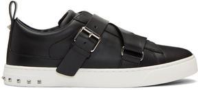Valentino Black Garavani V-Punk Strap Sneakers