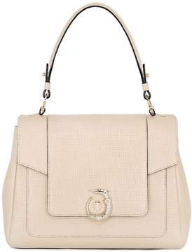 Trussardi Lovy Perforated Leather Top Handle Bag