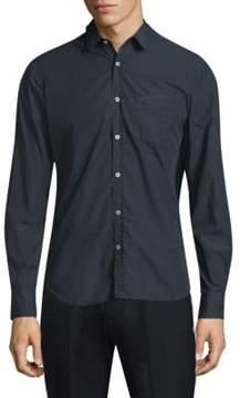 Officine Generale Cotton Button-Front Shirt