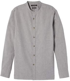 Banana Republic Grant Slim-Fit Flannel Banded-Collar Shirt