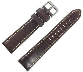 Dakota 20mm Brown Thick Pad Oil Tanned Shrunken Leather Brown