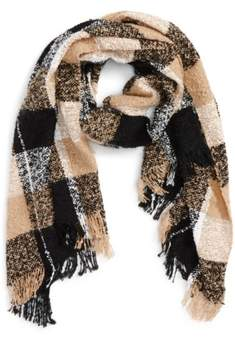 BP Women's Marled Plaid Scarf