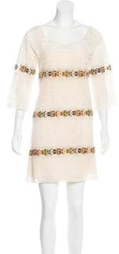 Calypso Crochet Mini Dress