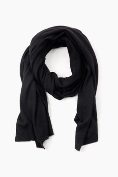 White + Warren Black Cashmere Travel Wrap